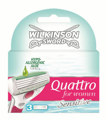 Wilkinson Sword Quattro For Women Sensitive Blades - 3 Pack