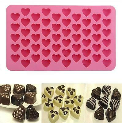 Chocolate Cookie Silicone Ice Cube JellyHeart-shape  Tray Candy  Baking Mold SO