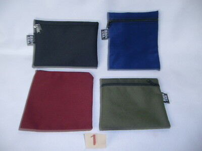 Envelope bags with zipper 4 pack Document bags assorted size,color,Made in U.S.A
