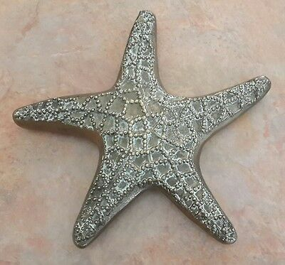 "Starfish Solid Brass Decorative Paperweight 7"" Diameter"