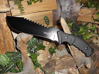 Knife/Bowie/Cleaver/Machete/Full tang/5MM/Hunting/Camping/Survival/HEAVY DUTY/BK