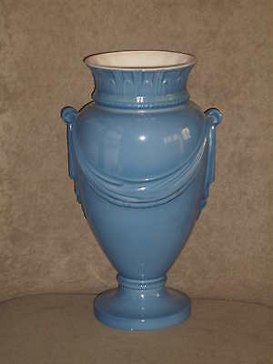 Rare Vintage Lenox Goeblin Blue Empire Vase Swag Motif Old Green Mark