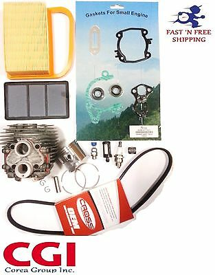 Stihl TS420 TS410 Cylinder kit overhault + gasket set + air filter + drive belt