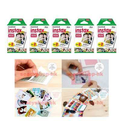 10 Packs Fujifilm instax Mini Film,100 Fuji instant photos Mini 9 8 7s 90 25 55i