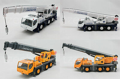 "Affluent Town 7.5"" Diecast Mobile Crane Truck White / Yellow Model COLLECTION"