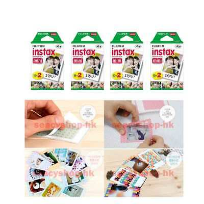 80 Pcs 80 Pack Fujifilm Instax Film Mini Fuji Photo Neo 90 8 9 25 7S 100 SP-1