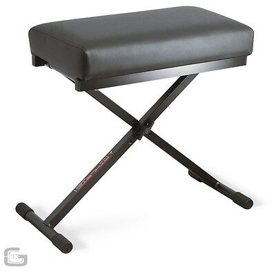 Athletic BN-2 BN2 Deluxe Leather Large Bench Keyboard Piano Stool Seat Rest
