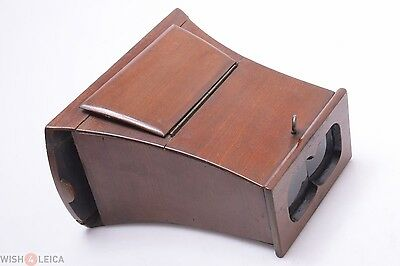 Parts Or Repair*  Antique Wood 3D Stereo Viewer, Stereoscope. Brewster, Unis?