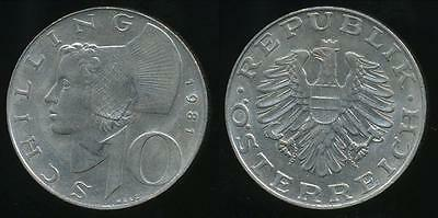 Austria, Republic, 1981 10 Schilling - almost Uncirculated
