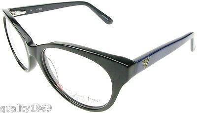 Authentic Guess Black Gloss Finish Eye Reading Glasses, Spectacles Frames New