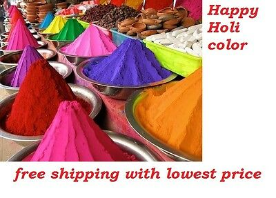 1000gm HOLI Color POWDER 10 x 100g Pks in Asst'd Colors - Free shipping