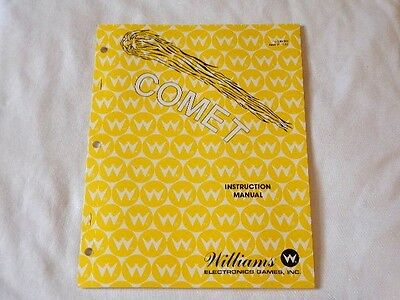 1985 Williams Comet Pinball Manual