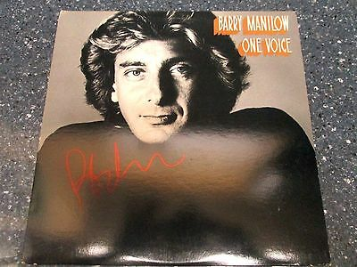 """Barry Manilow signed One Voice 12"""" LP"""
