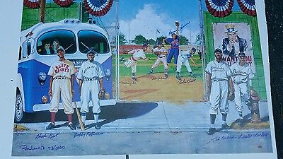 """Signed Negro League Lithograph """" The Queen and her court"""" by Ron Lewis 639"""