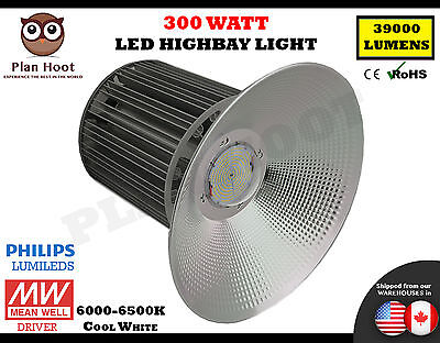 300W Watt LED High Bay Light Bright White Lamp Lighting Fixture Factory Industry