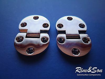 (Pack of 2pcs) Small Crome Metal Hinges For Door Cabinet Cupboard Commode Buffet