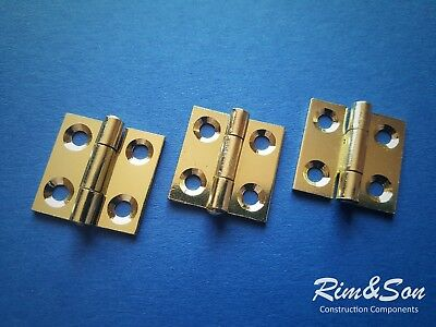 (Pack of 4pcs) Small Gold Metal Hinges For Door Cabinet Cupboard Boxes Furniture