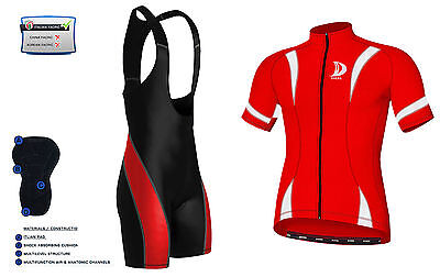 Mens Cycling Half Sleeve  Jersey, Top Racing Biking  Jersey + Bib shorts set