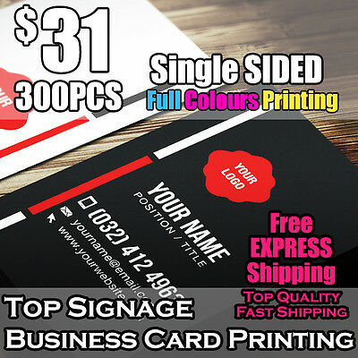 300pcs Business Cards Single Sided Printing on 360mic Thick Card Full Colour
