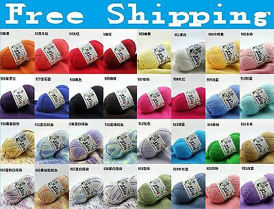 Wholesale!! Wool colors Super Soft Natural Smooth Bamboo Cotton Knitting Yarn !