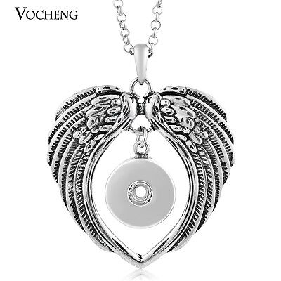 10pcs/lot Interchangeable Snap Heart Necklace Stainless Steel Chain NN-048*10