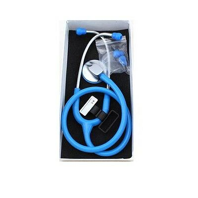 1pcs New Lightweight Portable Stethoscope Skyblue Free Shipping F074