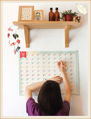 100 Day Wall Calendar Home Office Month Planner Schedule Paper Hanging Sticker