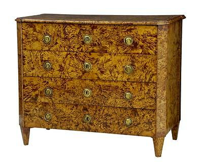 Rare Early 19Th Century Alder Root Swedish Chest Of Drawers