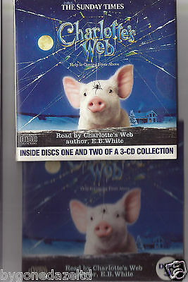 Charlotte's Web Complete 3 Disc Audio Book Promo Cds(Free Uk Post