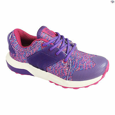 Geox J Asteroid G. B Girls Fuchsia / Violet Lace Up Summer Trainers Size 31 - 39