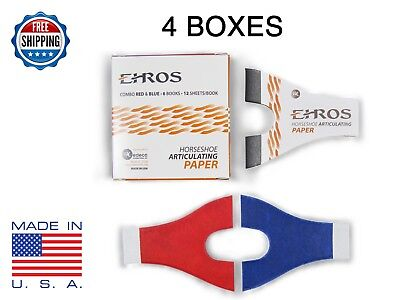 HORSESHOE ARTICULATING PAPER RED/BLUE COMBO  24 Books = 288 Sheets MADE IN USA