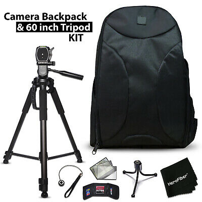 Well Padded Camera Backpack + 60 inch Tripod for Canon EOS 7D Mark II