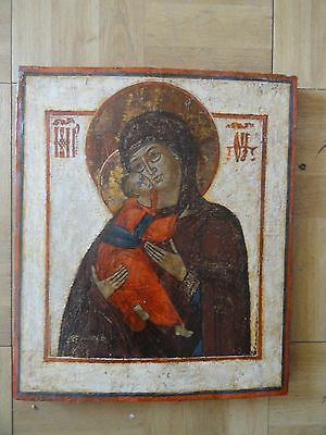 Old Russian Icon Mother Of God
