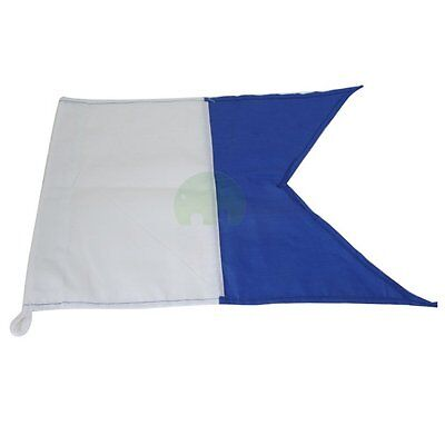 350mm x 300mm Large Scuba Diving Dive Boat Alpha Flag International Sign UK