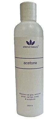 Pure Acetone chemical for Acrylic Nail Glue/polish Remover & sculptures – 250ml