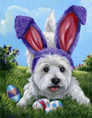 Westie Egg Hunt Flag  Free Ship Usa Rescue