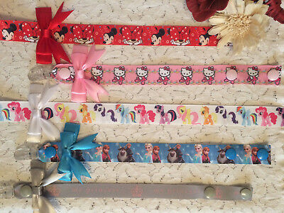 Girls Character Dummy Clips With Or Without Bow - Soother