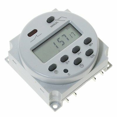 Mini DC 12V 16A 24 HOUR 7 DAY PROGRAMMABLE TIMER TIME RELAY SWITCH LCD UK