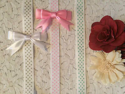 Patterned Ribbon Dummy Clips - Soother Gingham Check Polka Dot