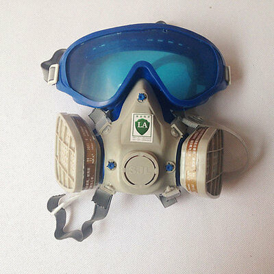 Gas Mask Double Filter Protection and Goggles Emergency Survival Safety Hot