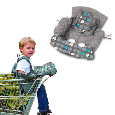 Grey Shopping Trolley/High Chair Cover Clean/Comfortable Baby/Toddler/Child