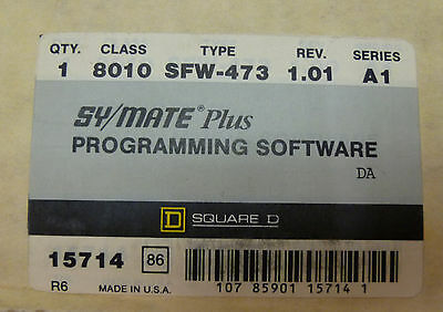Square D 8010-SFW-473 Sy/Max 8010SFW473 PROGRAMMING SOFTWARE Symate PLUS 15714