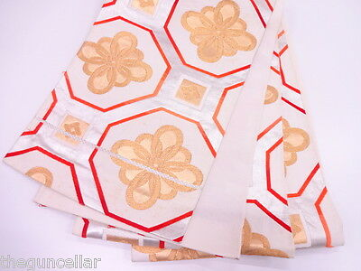 Beautiful High Class Antique Fukuro Obi For Japanese Kimono, Quality Material