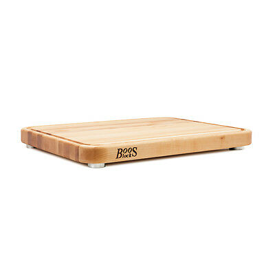 John Boos Tenmoku Cutting Board in Maple with SS feet  (Boos MSRP $183.00)