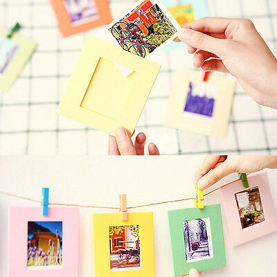 10pcs NEW Colorful Wooden Clothe Photo Paper Peg Clothespin Craft Clips Gifts