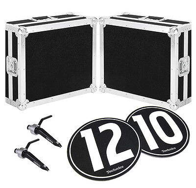 DJ Vinyl Turntable Accessory Package with Roadcase, Slipmats and Stylus