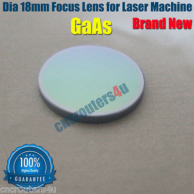 New DIA 18mm GaAs Focus Lens for CO2 Laser Cutter Engraver Machines 2.5''
