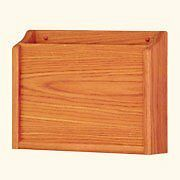 Wooden Mallet Privacy Chart Holder  HIPAA Compliant  Letter Size  Medium Oak NEW