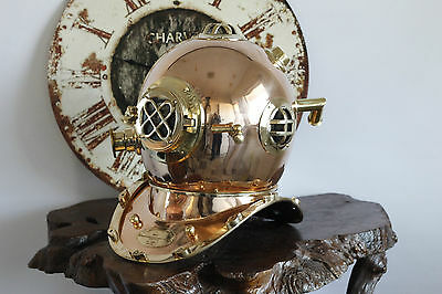SOLID COPPER DIVING HELMET Full Size Replica Home Decor Designer Piece Executive