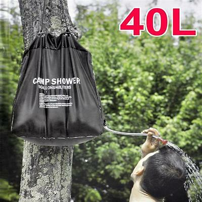 40 Liter SOLAR Camping Shower Portable Outdoor Hiking Water Sun Heated Camp Bag